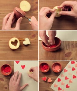 homemade-valentine-gifts-wrapping-paper-heart-potatoe-cookie-cutter-paint