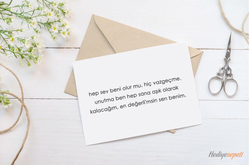 sevgili hediye notlari