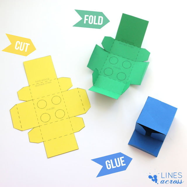 El Yapımı Lego Şeklinde Hediye Kutusu 3