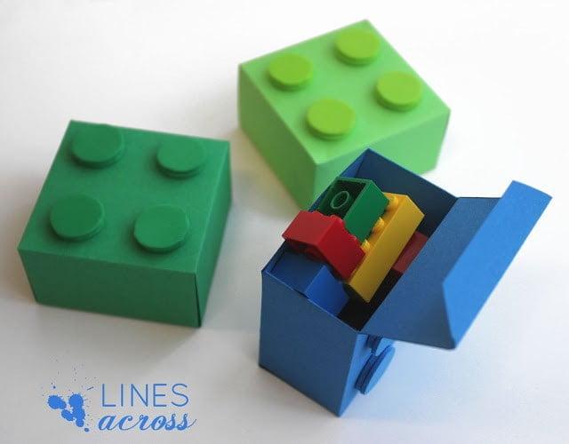 El Yapımı Lego Şeklinde Hediye Kutusu 5