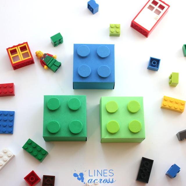 El Yapımı Lego Şeklinde Hediye Kutusu 6