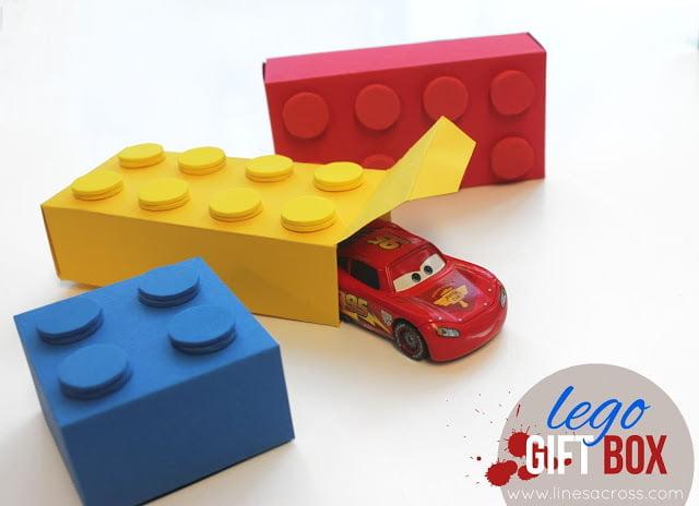 El Yapımı Lego Şeklinde Hediye Kutusu