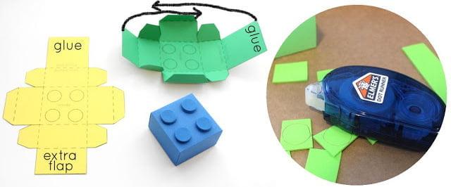 El Yapımı Lego Şeklinde Hediye Kutusu 2