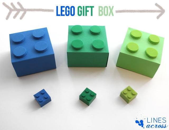 El Yapımı Lego Şeklinde Hediye Kutusu 4