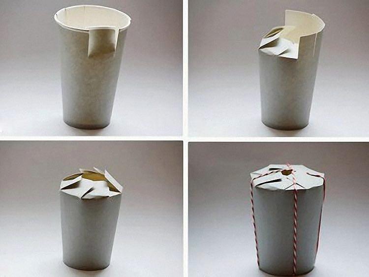 Karton bardaktan el yapımı hediye kutusu 3