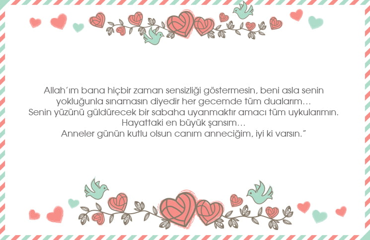 Anneler Günü İçin En İyi 10 Mektup