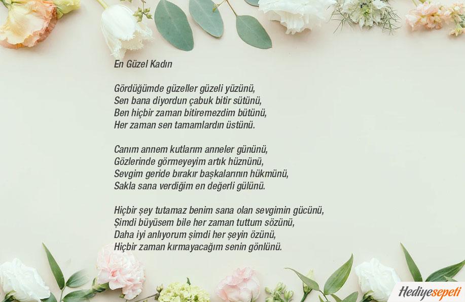 anneler günü ile şiir
