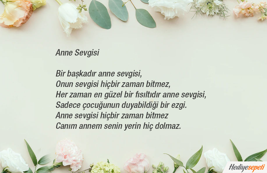 anneler günü şiir