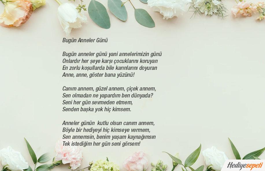 anneler günü şiirleri kısa