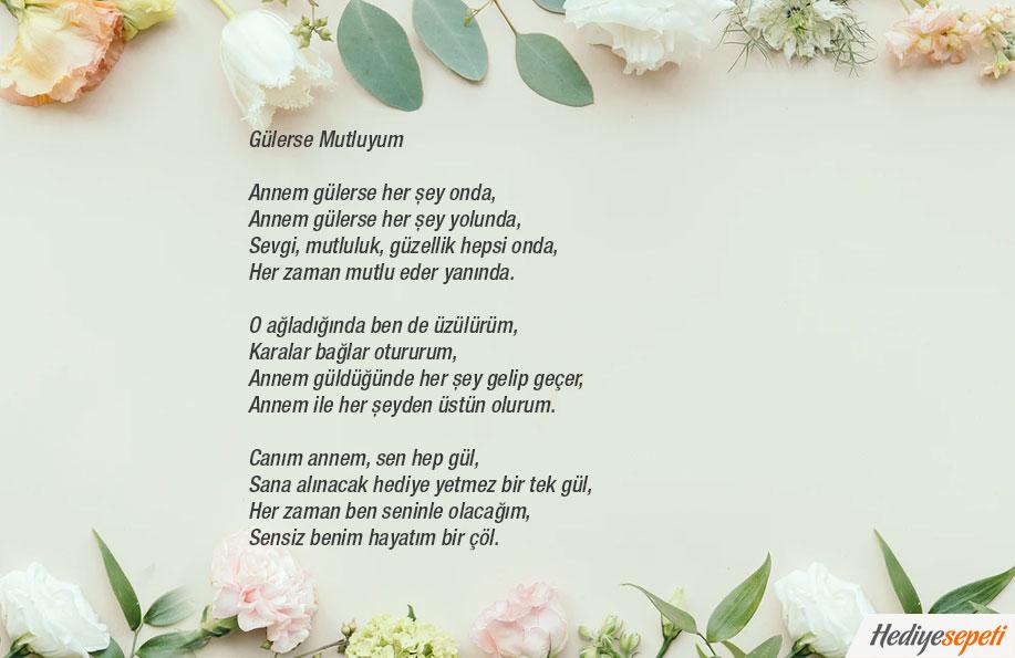 anneler günü şiirleri 2 kıta