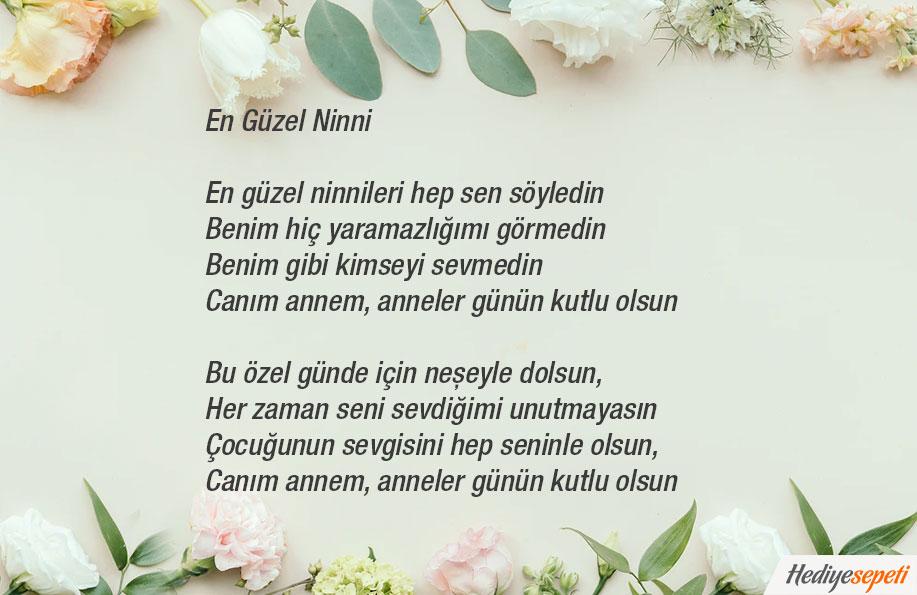 anneler gününe özel şiirler