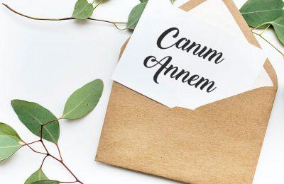 anneme mektup