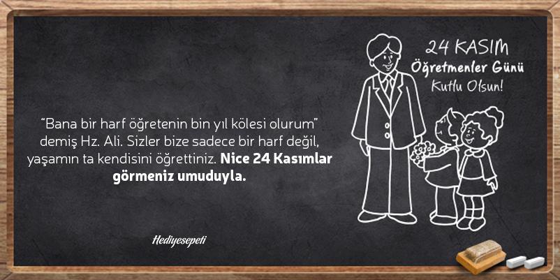 öğretmenler günü sözleri Atatürk