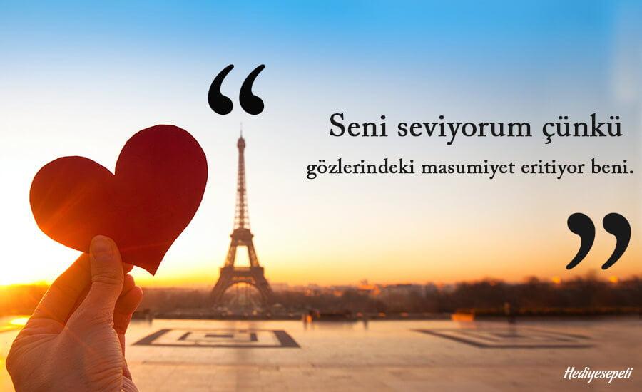 kız arkadaşa seni seviyorum sözleri
