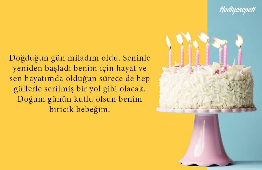 doğum günü pasta yazıları kısa
