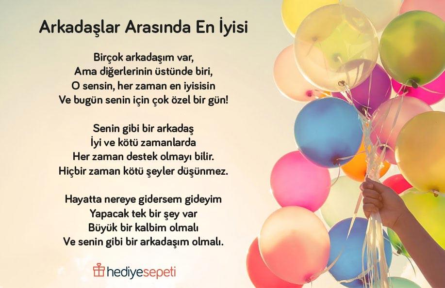 arkadaşa doğum günü şiirleri