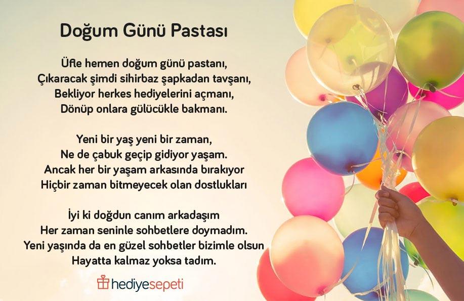 çocuğa doğum günü şiiri