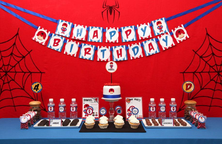 Spiderman Doğum Günü Konsepti