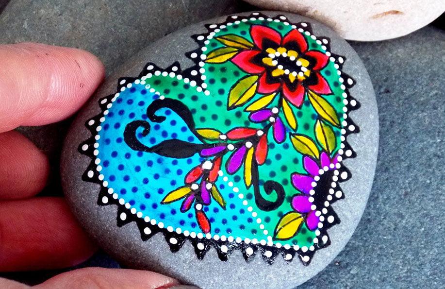 Taş Boyama Sanatı Ile Yapılmış Harika Taş Boyama örnekleri Hediye