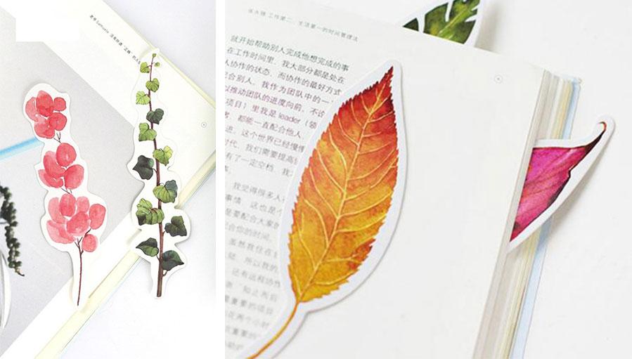 yaprak kitap ayracı