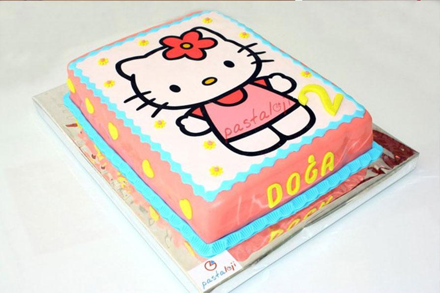 resimli 1 yaş pastası