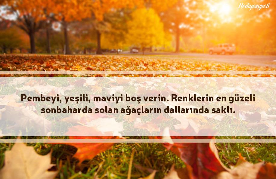 sonbahar ile ilgili sözler