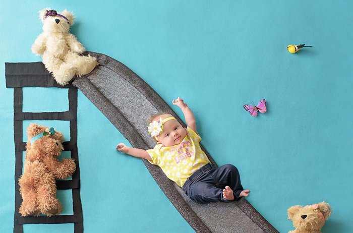 aylık bebek konseptleri bebek resimleri
