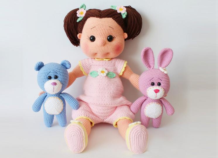23 Nisan'a Özel Amigurumi Reyyan Bebek Yapımı - Bacak Yapılışı 1/7 ... | 539x745