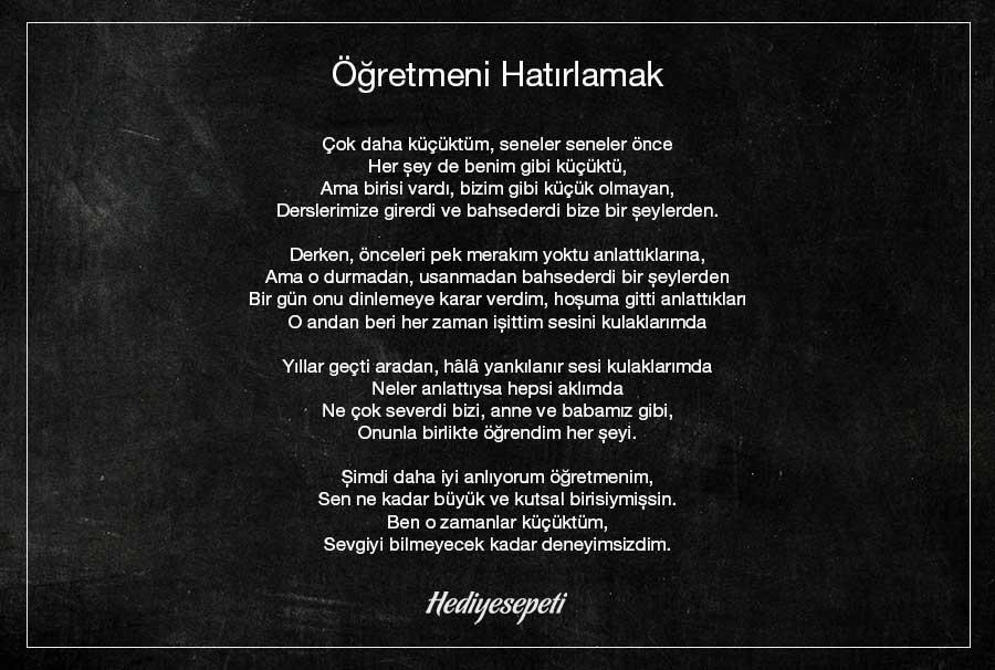 öğretmen şiiri