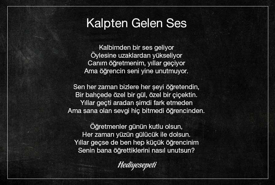 öğretmenler günü için şiir