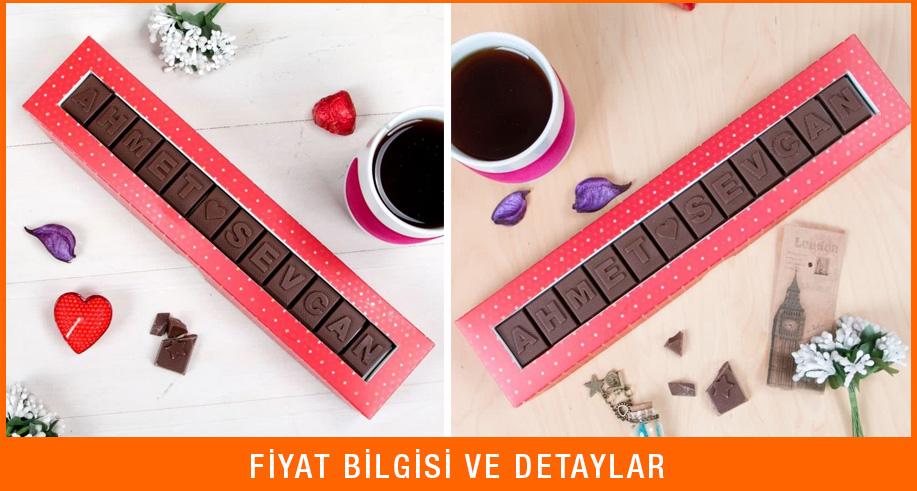 sevgililer günü hediyesi harf çikolata