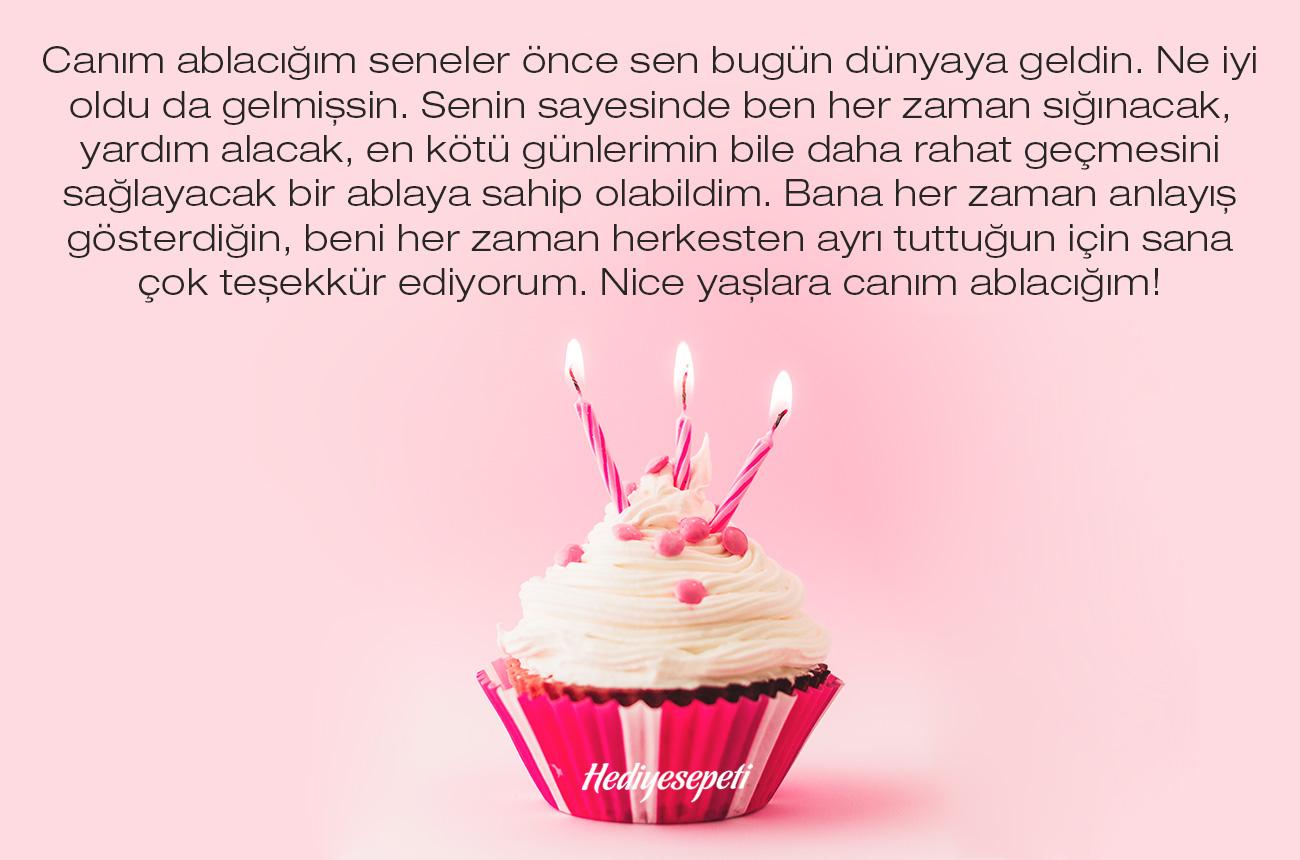 ablama doğum günü mesajı