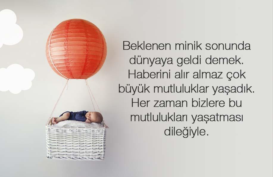 bebek tebrik mesajı