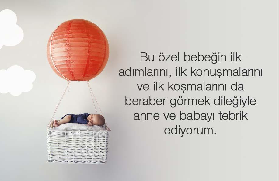 yeni doğan bebek tebrik mesajı