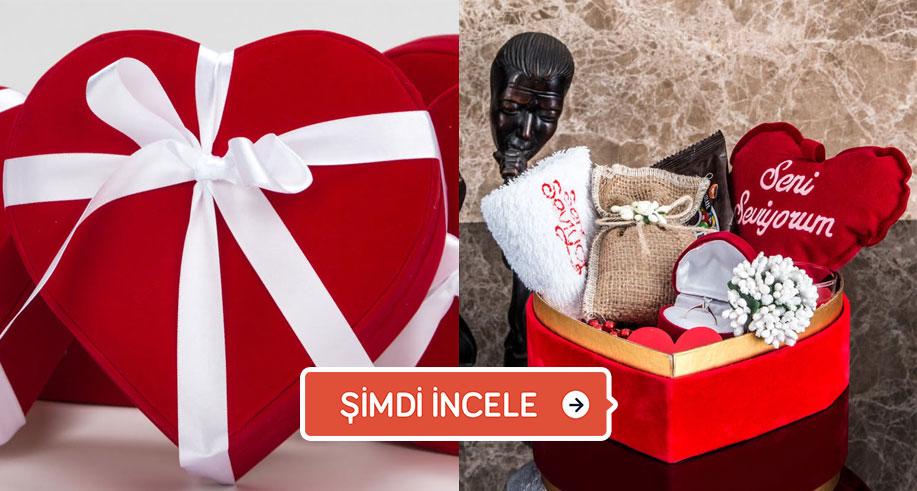 hediye kutusu kalpli